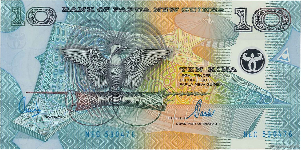 10 Kina PAPOUASIE NOUVELLE GUINÉE  2000 P.26a NEUF