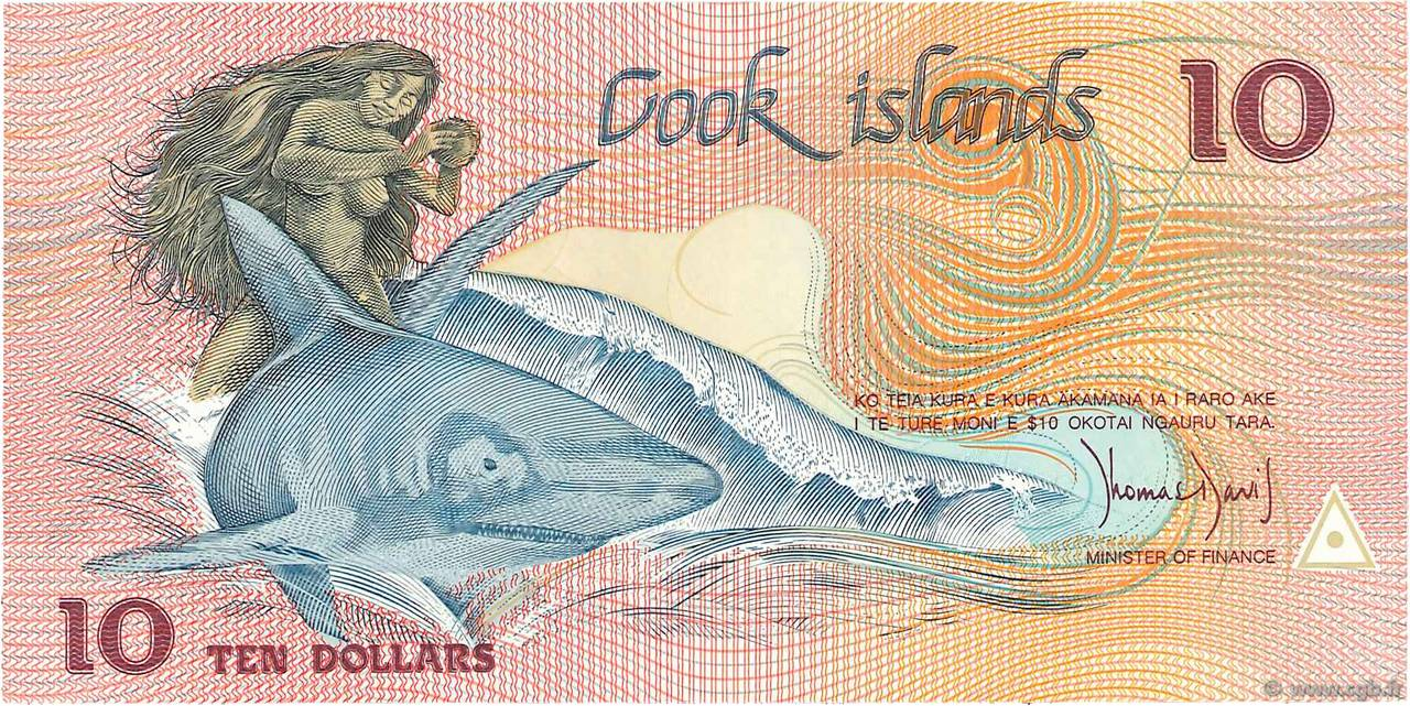10 Dollars  ÎLES COOK   1987 P.04a NEUF