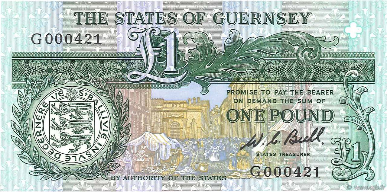 1 Pound GUERNESEY  1980 P.48a NEUF
