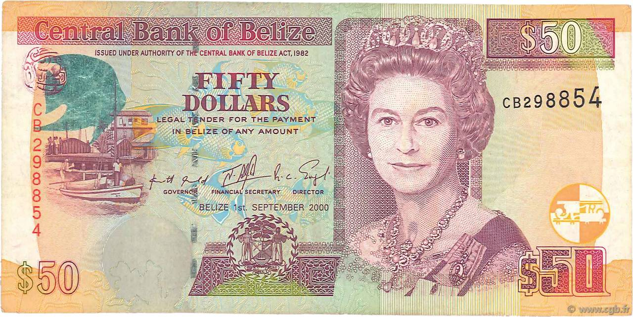 50 Dollars BELIZE  2000 P.64b TTB