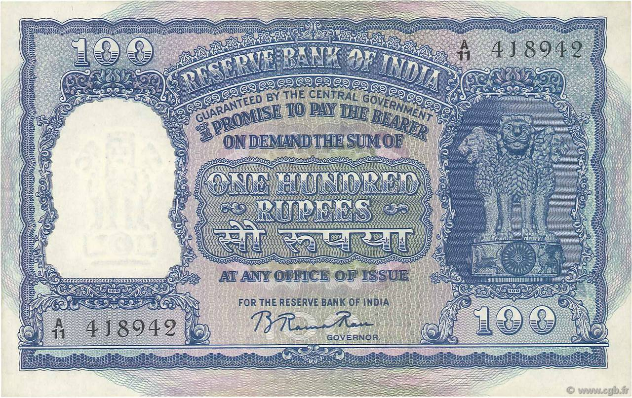 100 Rupees INDE  1949 P.042a SUP