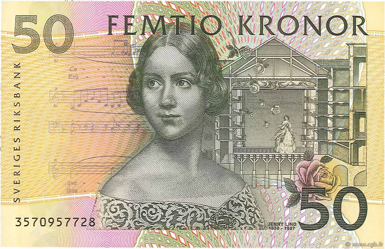 50 Kronor SUÈDE  2002 P.62a NEUF