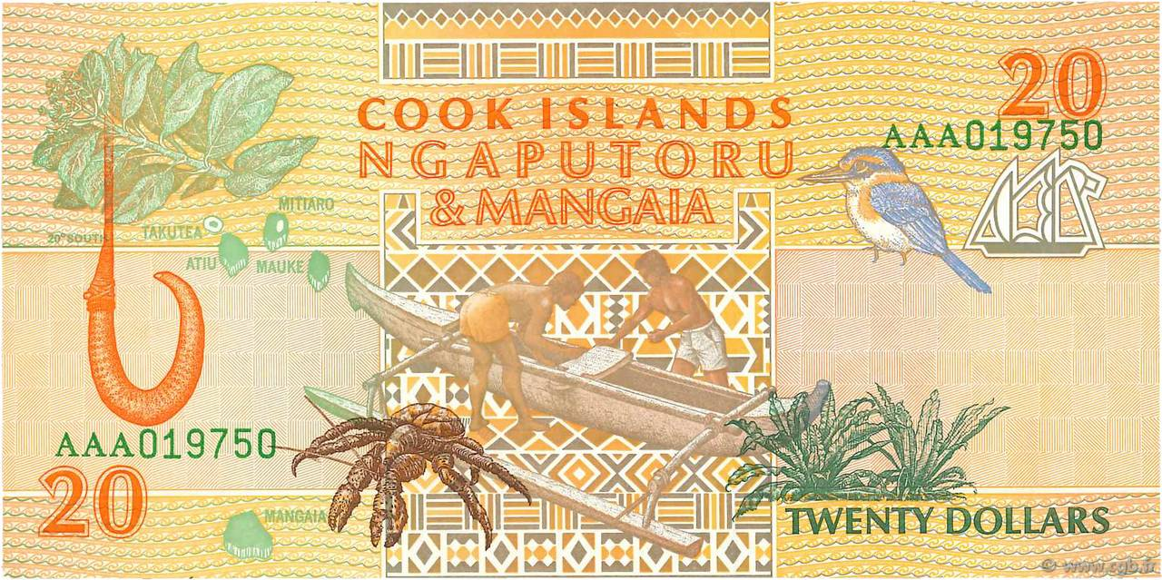 20 Dollars ÎLES COOK  1992 P.09a NEUF