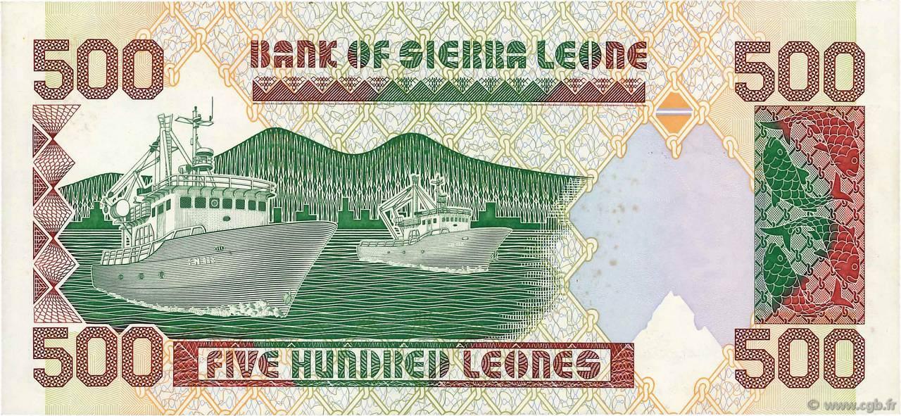 UNC Sierra Leone // Africa 500 Leones 1991 P-19