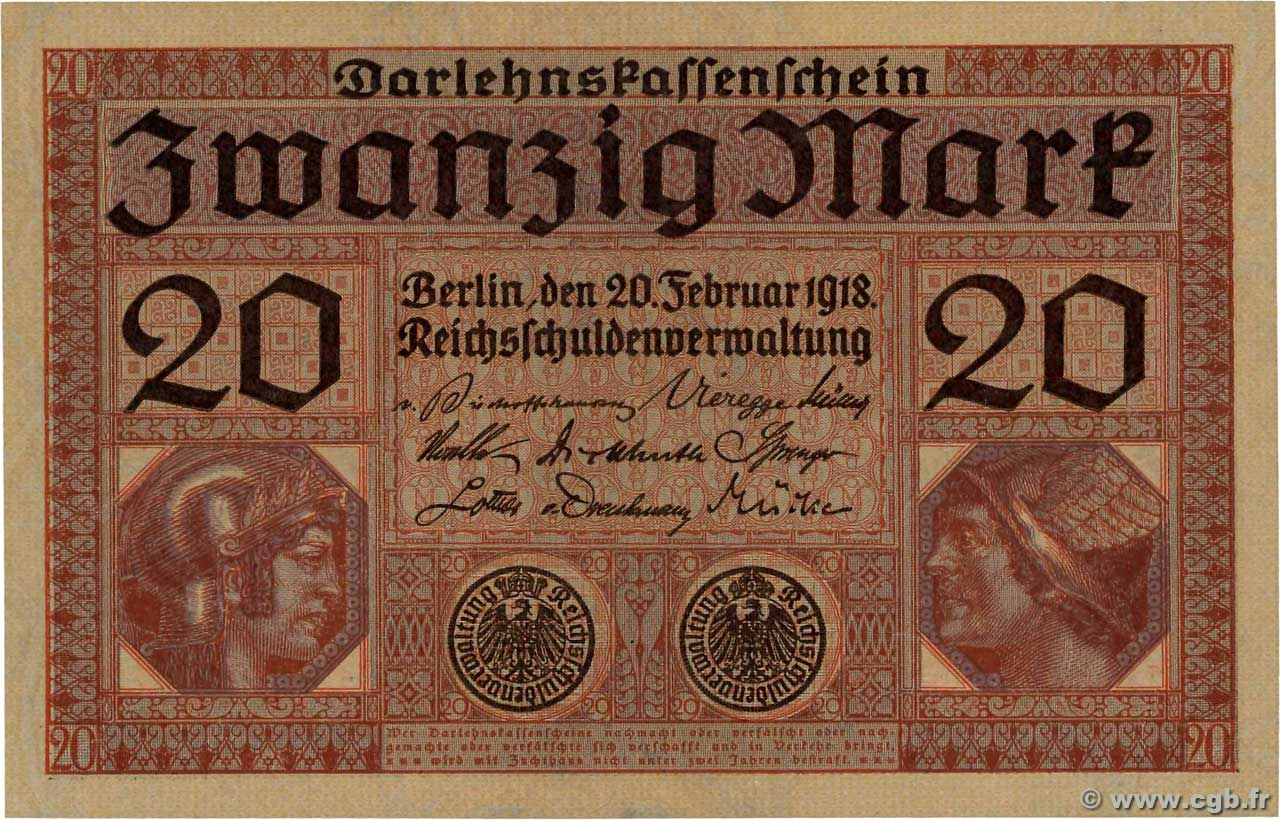 20 Mark GERMANY  1918 P.057 aUNC