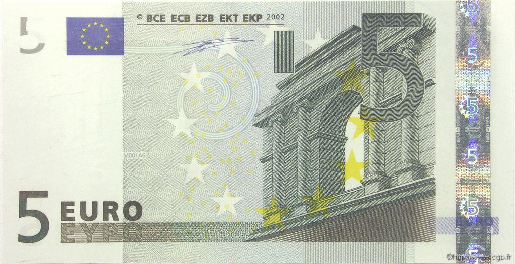 5 euro petit num ro europe 2002 b91 0261 billets. Black Bedroom Furniture Sets. Home Design Ideas