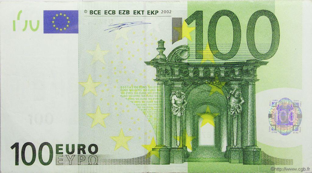 100 euro europe 2002 ttb b91 0268 billets. Black Bedroom Furniture Sets. Home Design Ideas