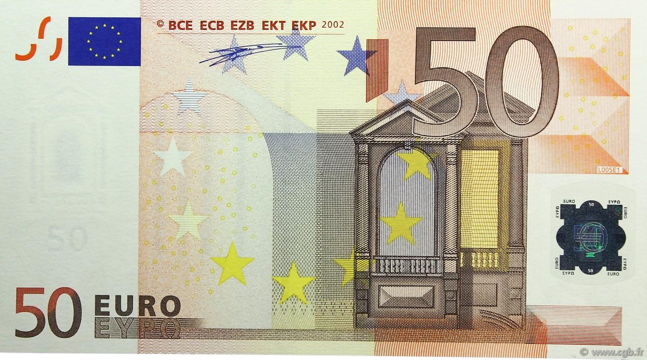 50 Euro Europa 2002 130 09 B91 0538 Banknotes
