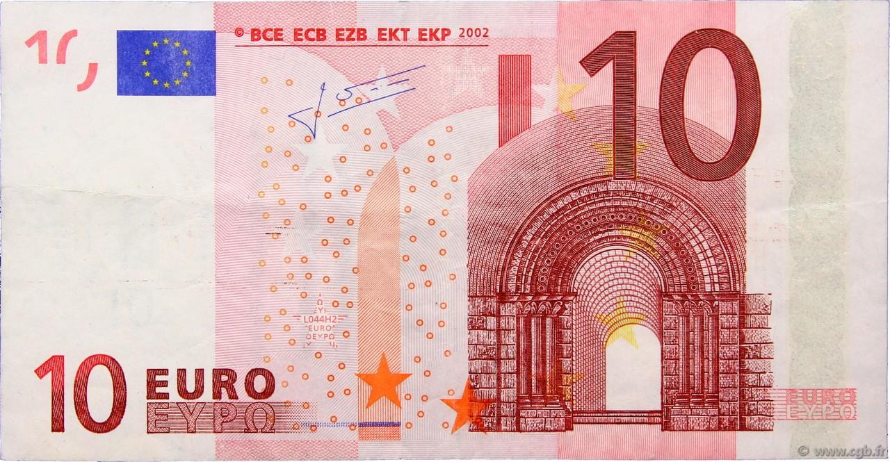 10 euro faut europe 2002 b91 0545 billets