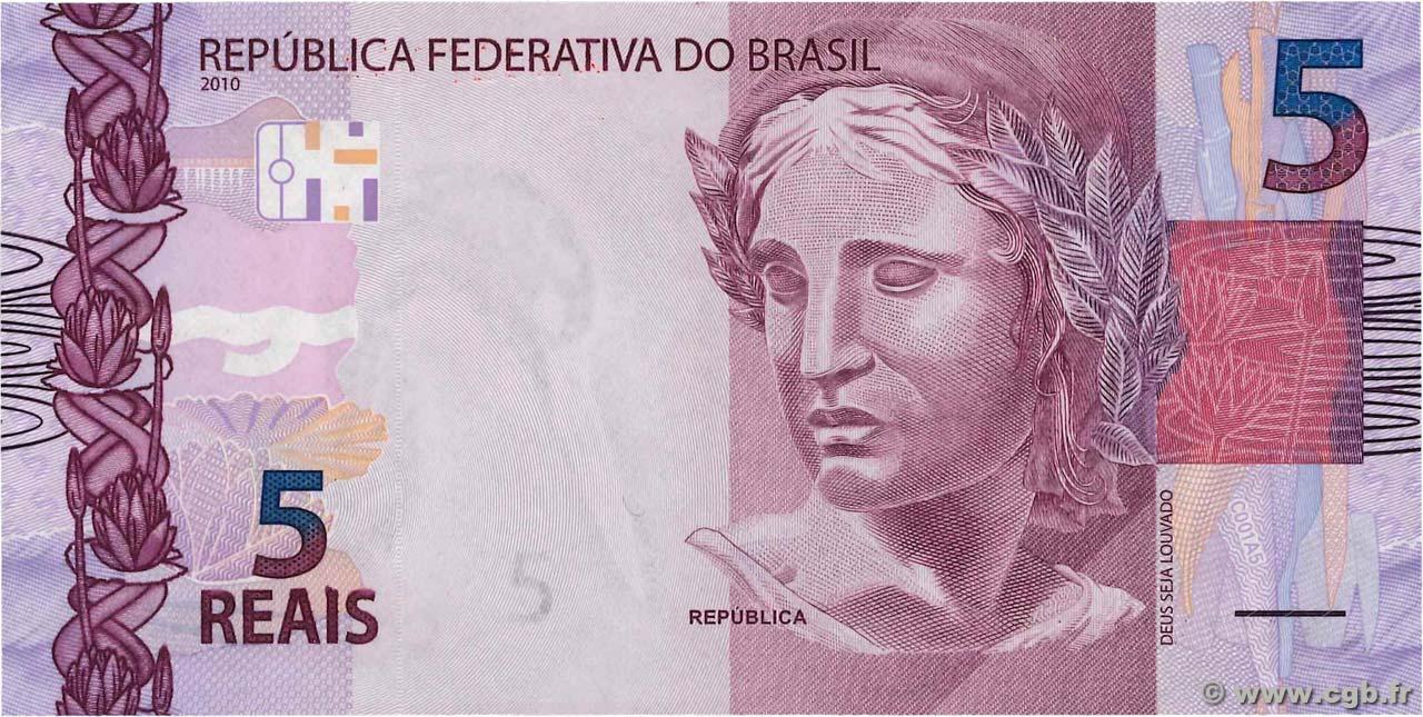 5 reais brazil 2010 p 253a b91 1575 banknotes