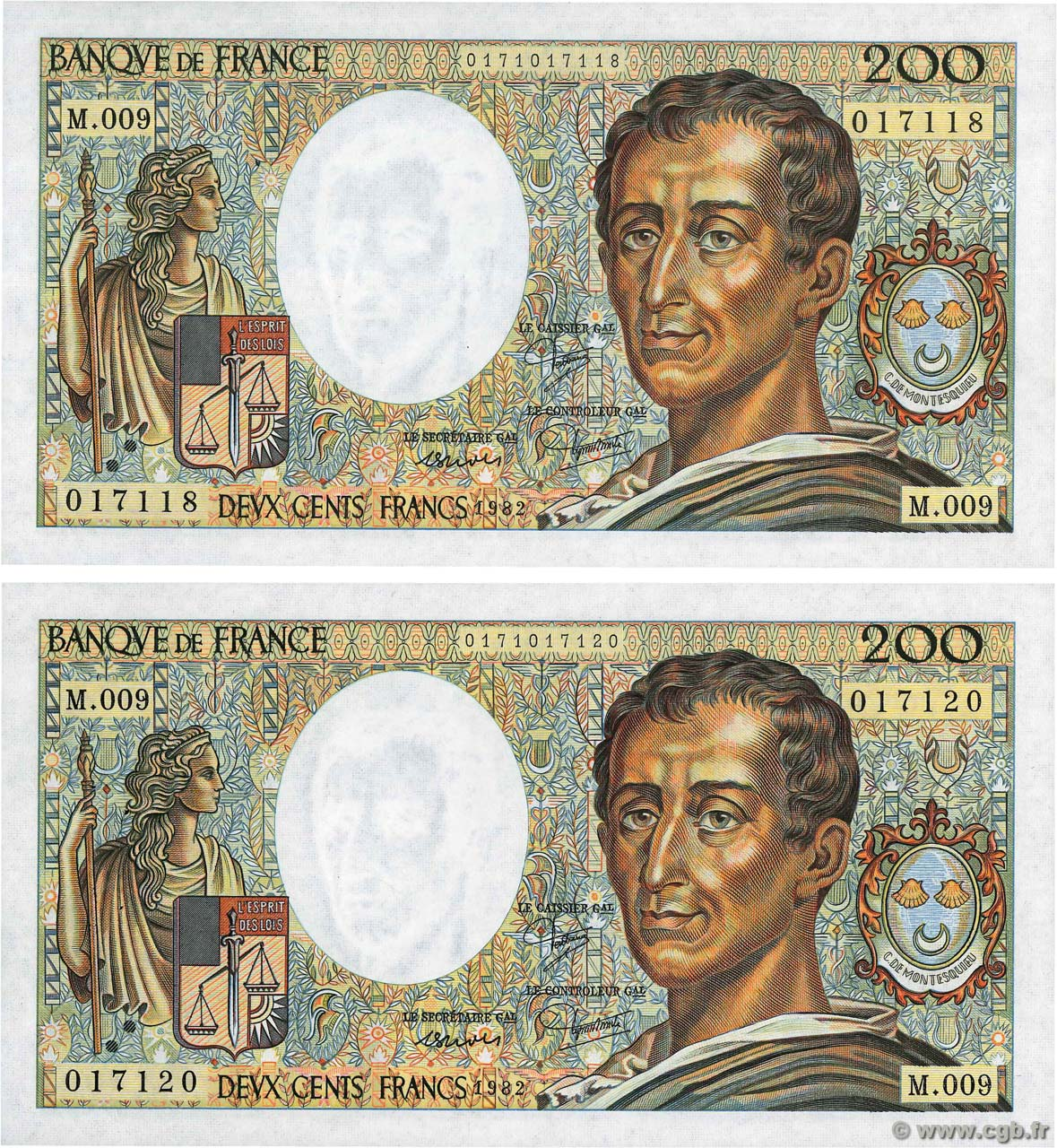 200 Francs MONTESQUIEU Lot FRANCE  1982 F.70.02 SUP
