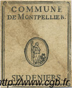 6 Deniers FRANCE régionalisme et divers Montpellier 1792 Kc.34.125 TTB