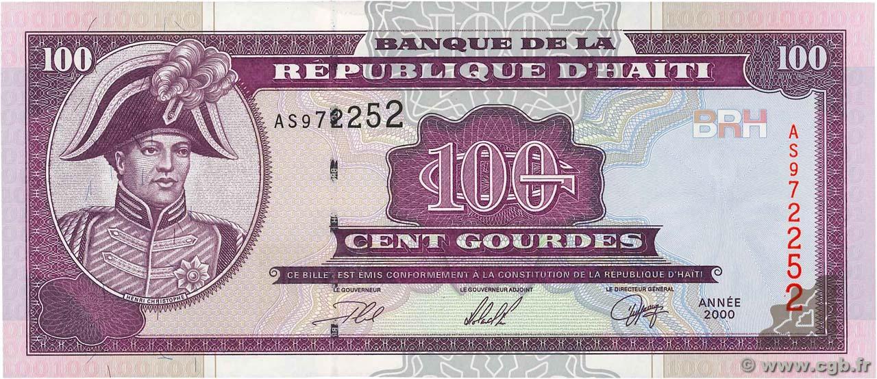 P-268 2000 UNC Haiti 100 Gourdes