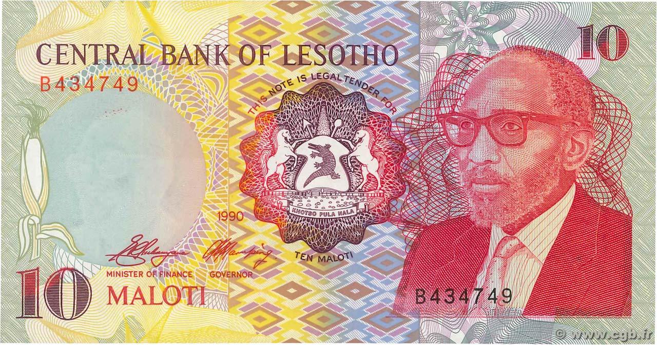 LESOTHO 10 MALOTI 1990 P 11 UNC