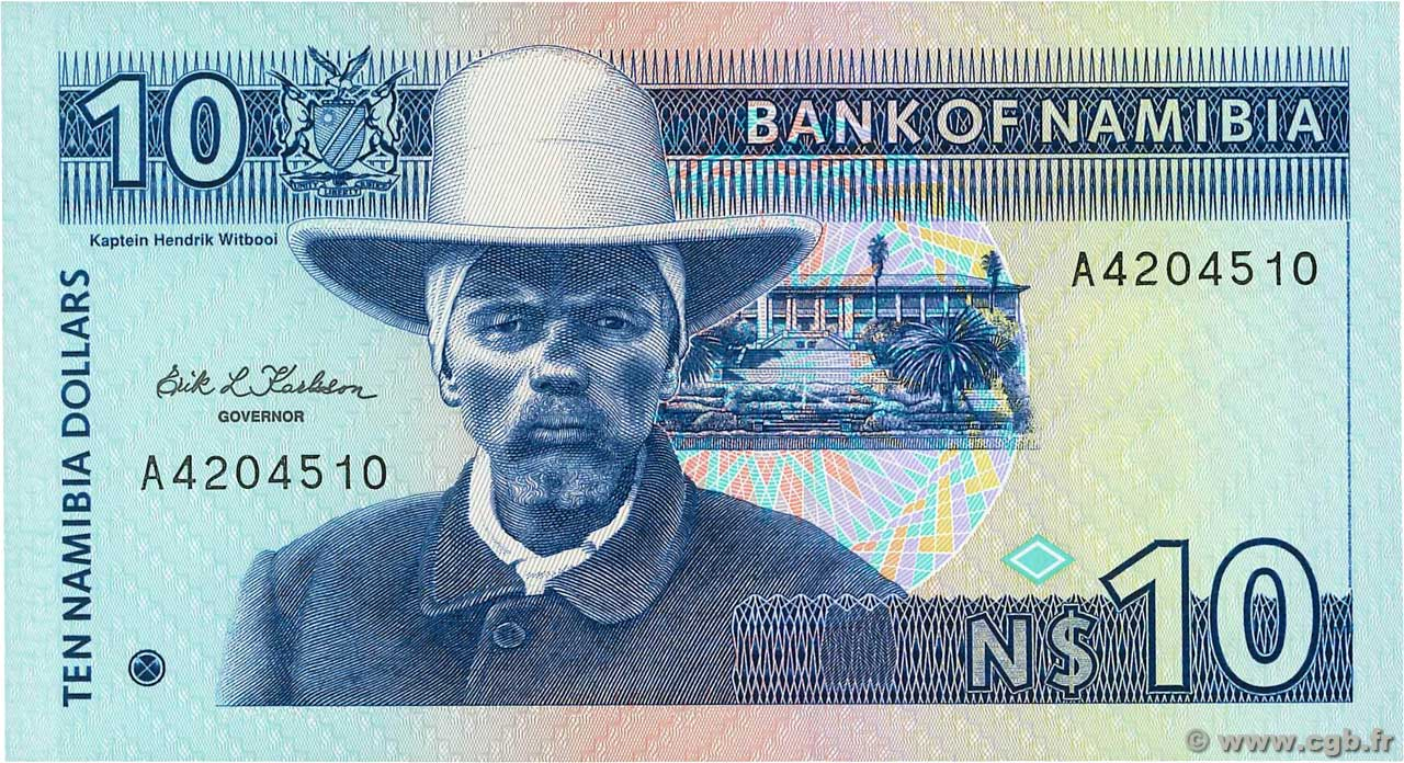 10 Namibia Dollars  NAMIBIA  1993 P.01a UNC