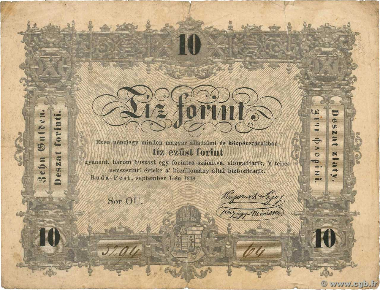 10 Forint  HONGRIE  1848 PS.117 TB