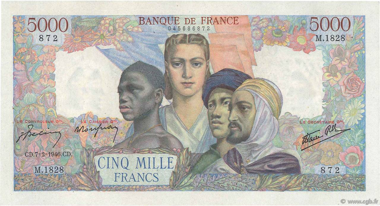 5000 Francs EMPIRE FRANÇAIS FRANCE  1946 F.47.50 SUP