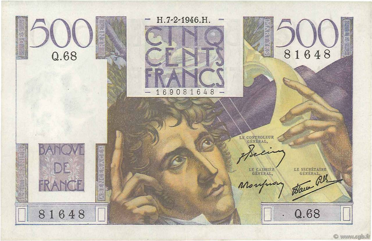 500 Francs CHATEAUBRIAND FRANCE  1946 F.34.04 SUP+