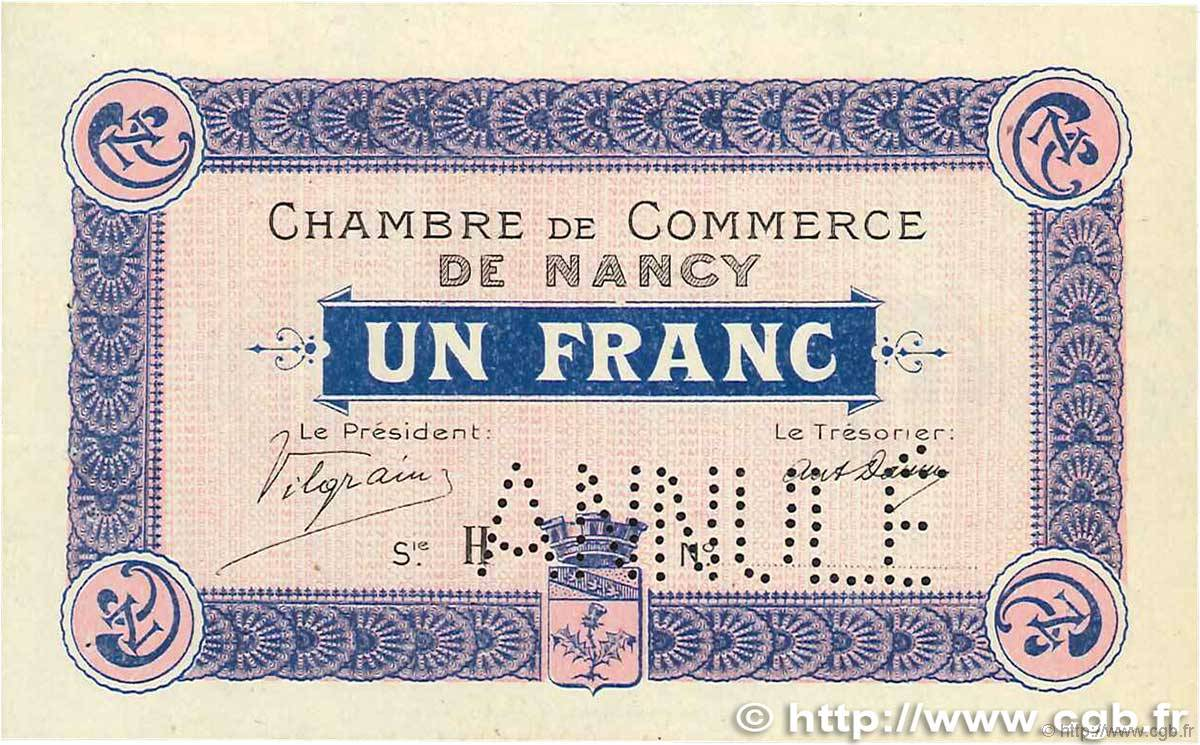 1 franc annul france regionalismus und verschiedenen nancy 1915 b94 0761 banknoten. Black Bedroom Furniture Sets. Home Design Ideas