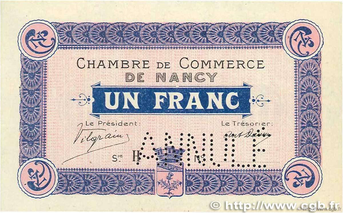 1 franc annul france regionalismus und verschiedenen nancy 1915 b94 0761 banknoten. Black Bedroom Furniture Sets. Home Design Ideas