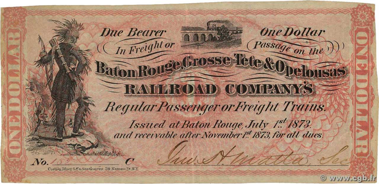2 Dollars UNITED STATES OF AMERICA Baton Rouge 1873 XF