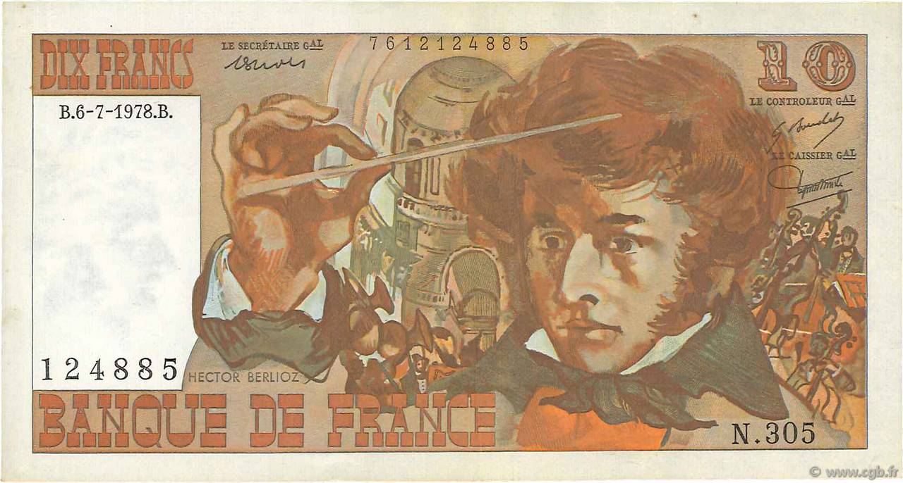 10 Francs BERLIOZ FRANCE  1978 F.63.24 TTB+
