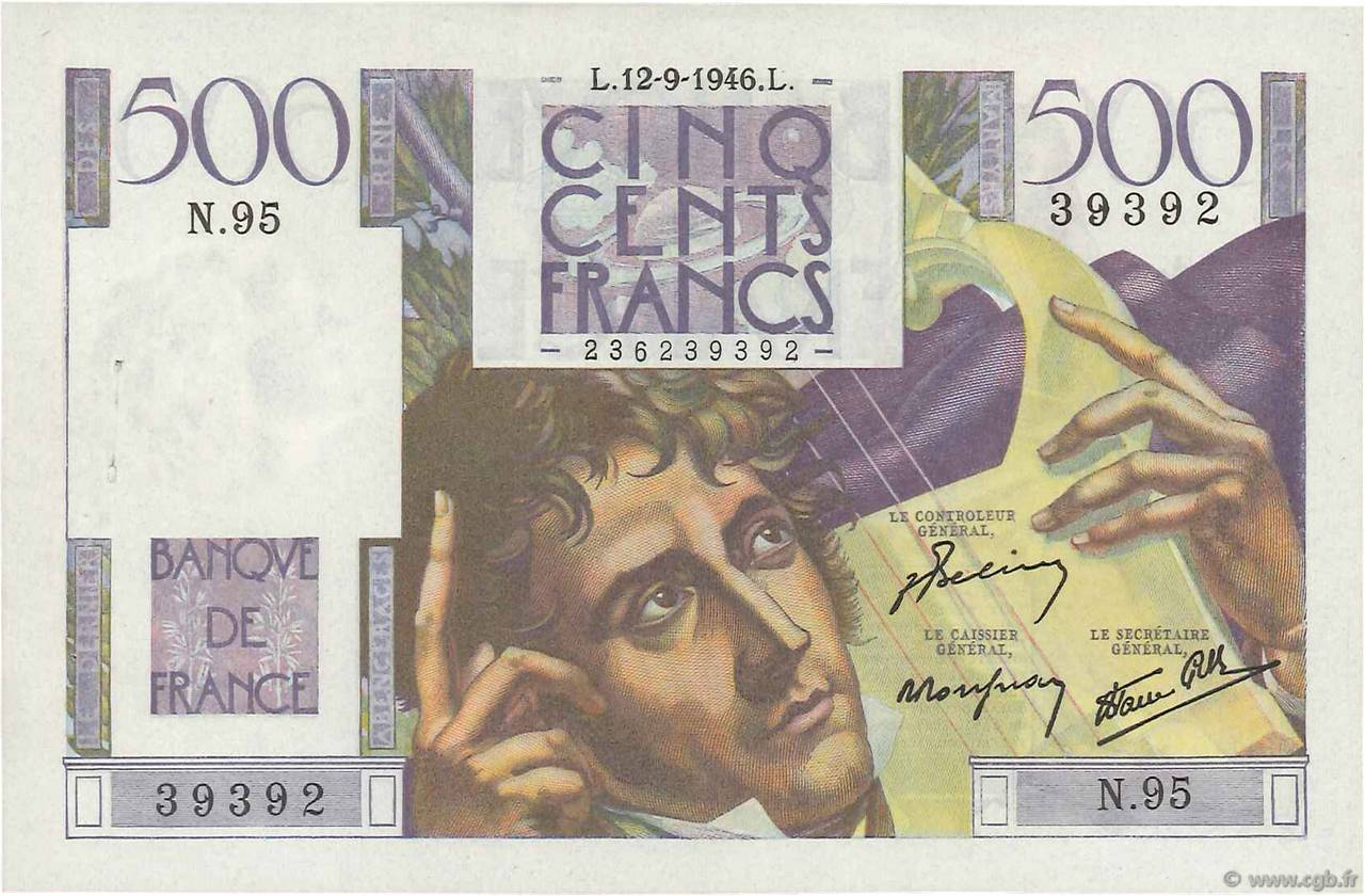 500 Francs CHATEAUBRIAND FRANCE  1946 F.34.06 TTB+