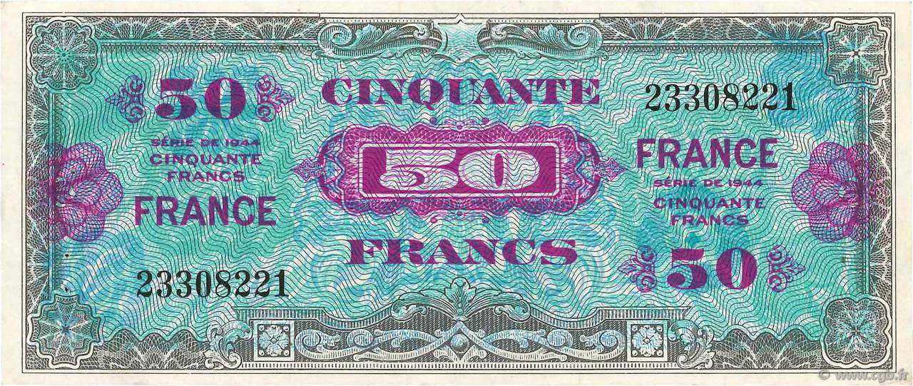 50 Francs FRANCE FRANCE  1945 VF.24.01 SUP