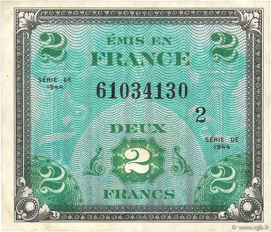 2 Francs DRAPEAU FRANCE  1944 VF.16.02 TTB