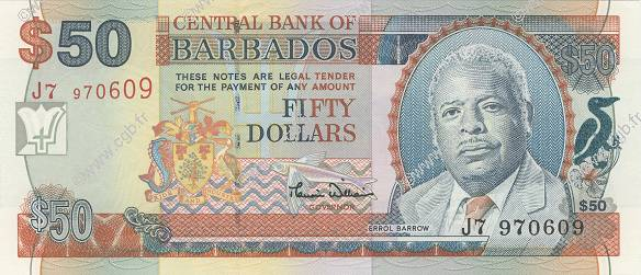 50 Dollars BARBADE  2000 P.64 NEUF