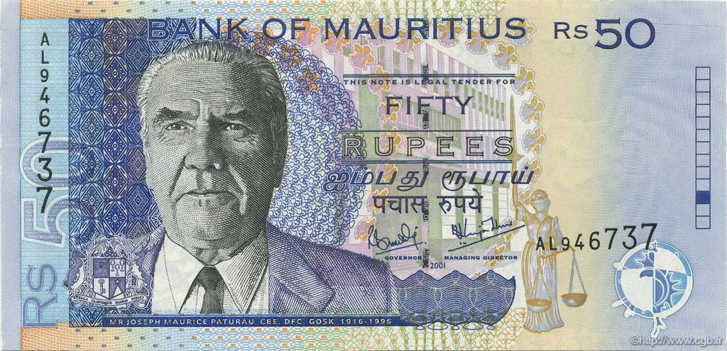 50 Rupees ÎLE MAURICE  2001 P.50b NEUF