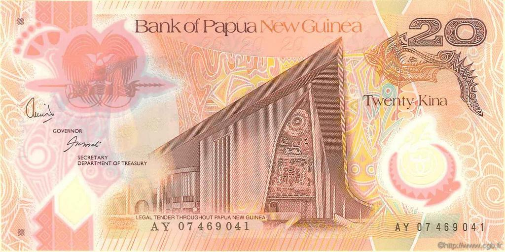20 Kina PAPOUASIE NOUVELLE GUINÉE  2007 P.31a NEUF