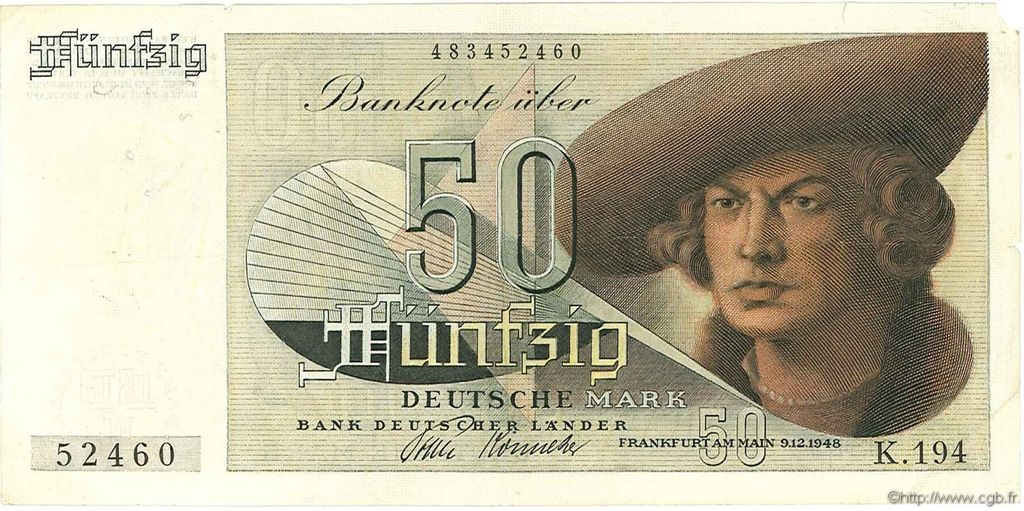 50 Mark ALLEMAGNE  1948 P.014a TB+