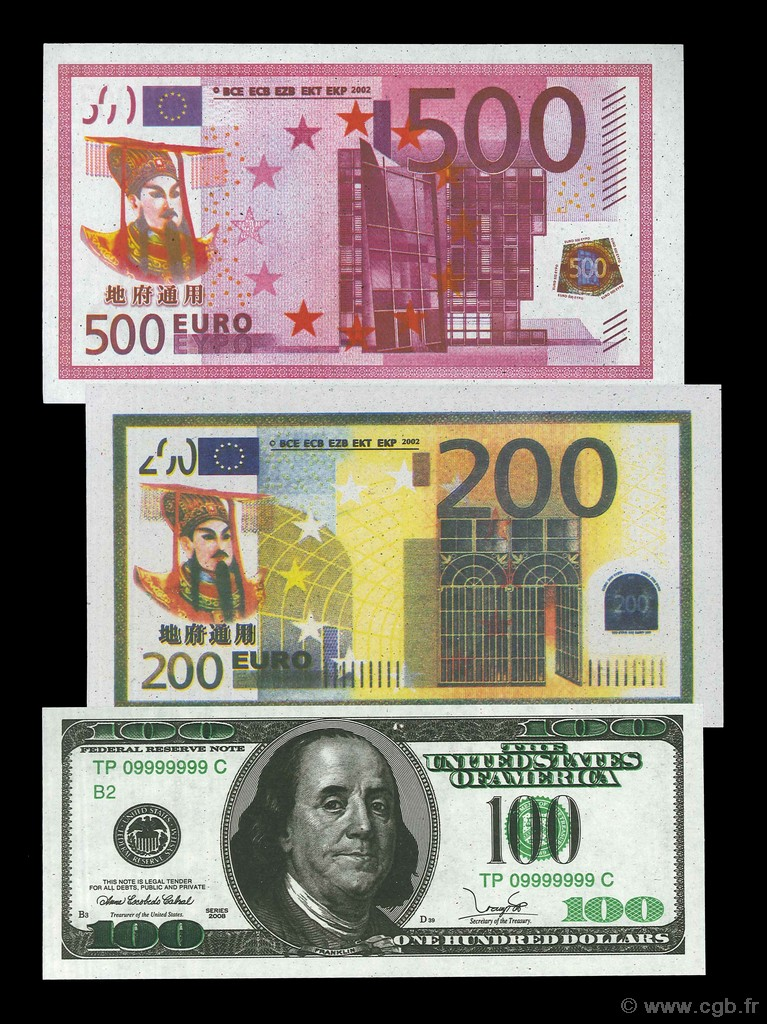 Lot de 3 billets Ngan Hang Dia Phu CHINE  2002 P.- NEUF