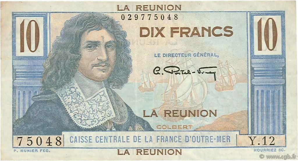 10 francs colbert le de la r union 1946 b97 2137 billets. Black Bedroom Furniture Sets. Home Design Ideas