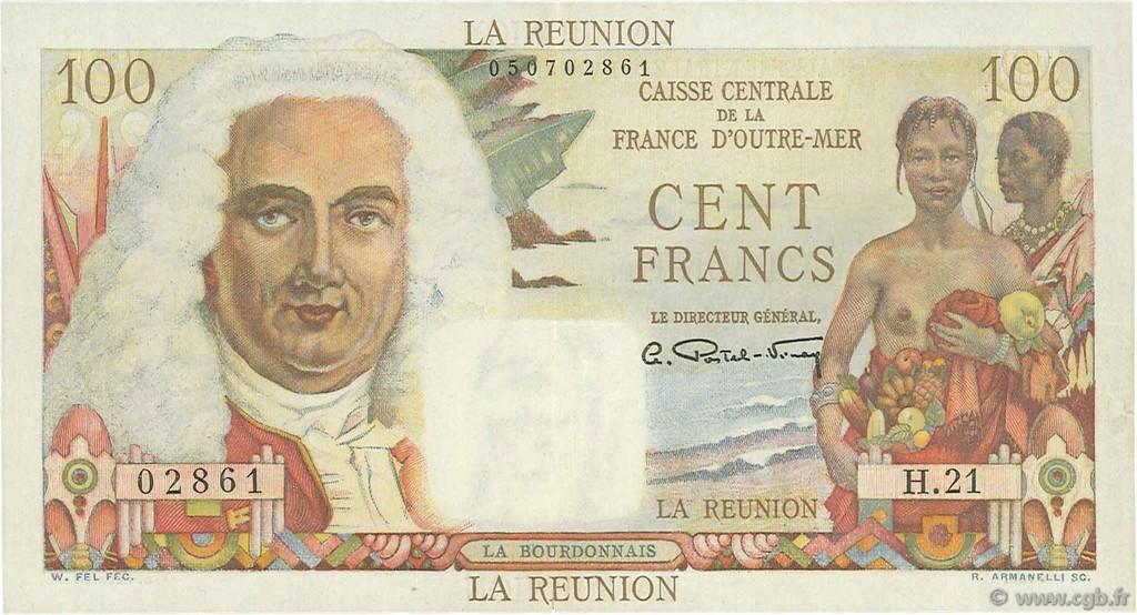 100 francs la bourdonnais le de la r union 1946 b97 2143 billets. Black Bedroom Furniture Sets. Home Design Ideas