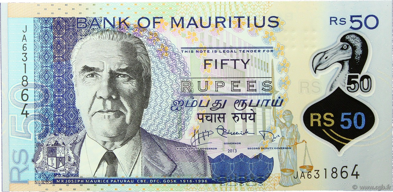 50 Rupees ÎLE MAURICE  2013 P.65 NEUF