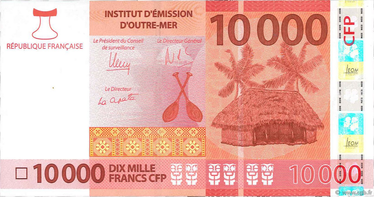 10000 Francs CFP POLYNÉSIE, TERRITOIRES D OUTRE MER  2014 P.New NEUF