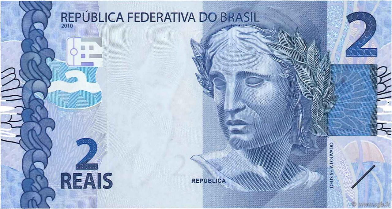 2 Reais BRAZIL 2010 P.252 UNC b97_2873 Banknotes