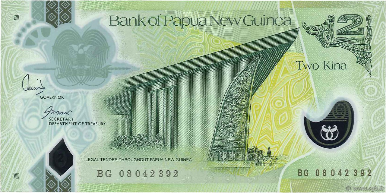 2 Kina PAPOUASIE NOUVELLE GUINÉE  2008 P.28b NEUF