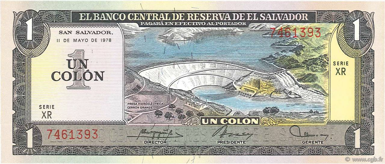 1 Colon  SALVADOR  1978 P.125a NEUF