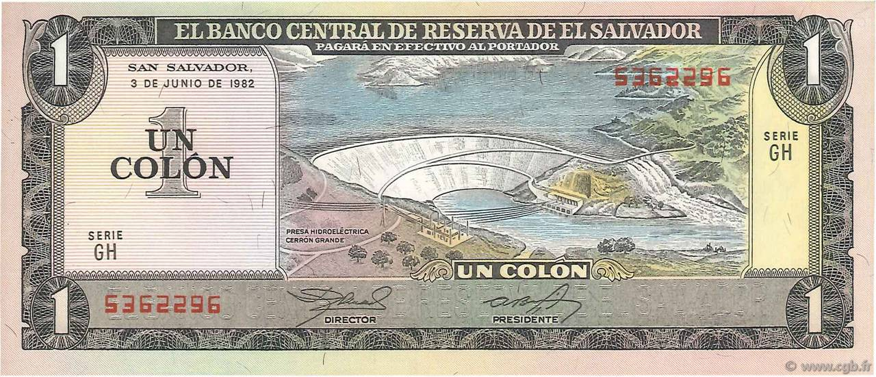 1 Colon SALVADOR  1982 P.133Aa NEUF
