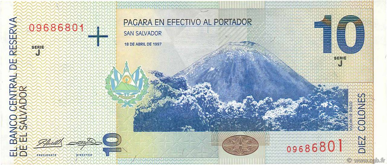 10 Colones  SALVADOR  1997 P.148a SUP