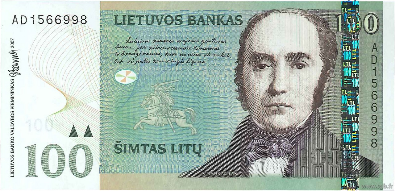 100 litu lithuania 2007 p.70
