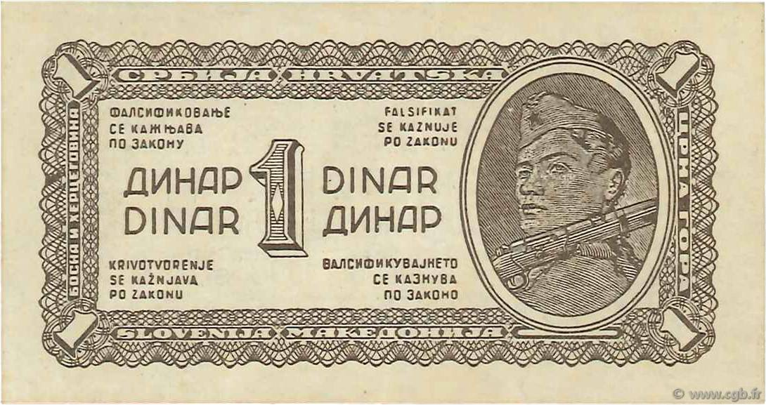 1 Dinar YOUGOSLAVIE  1944 P.048a SUP