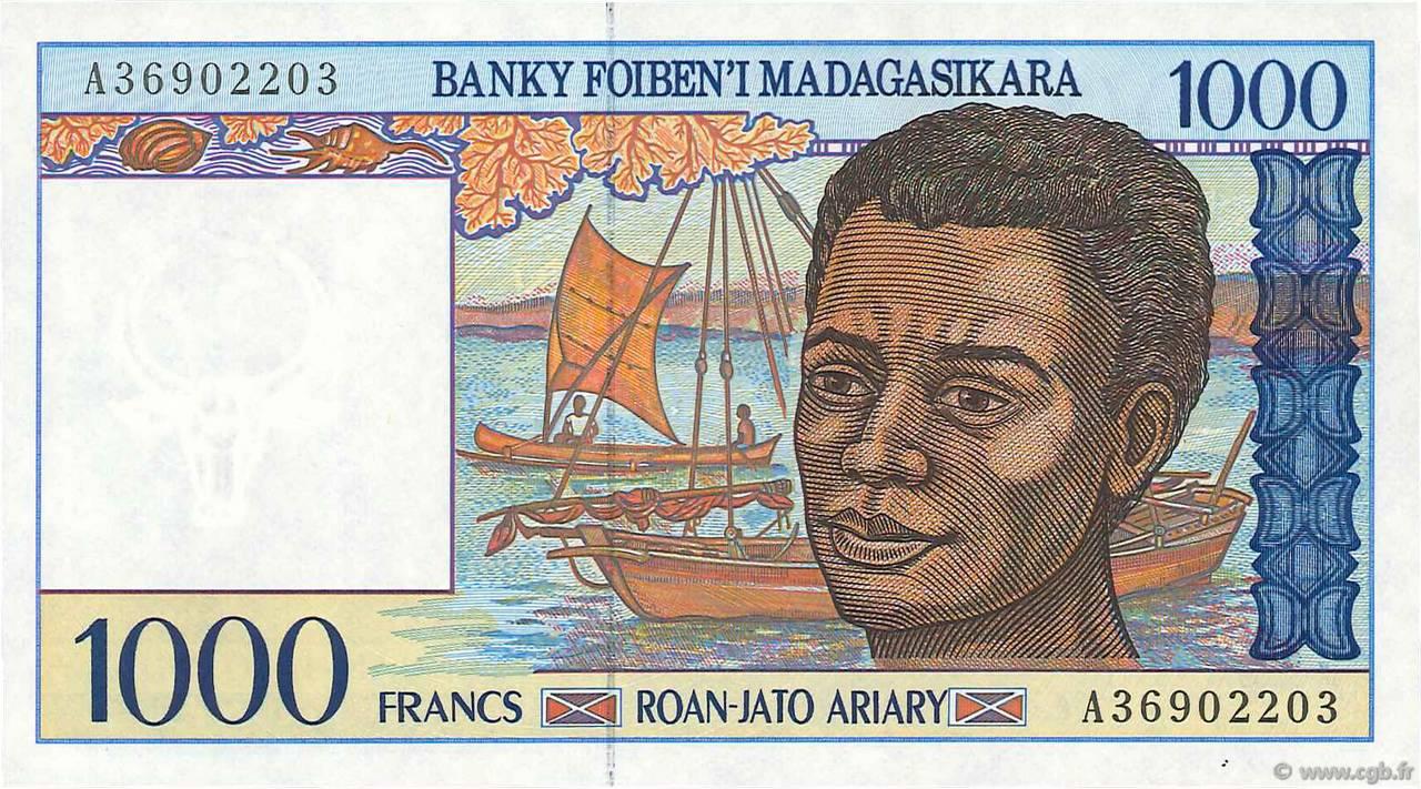 1000 francs 200 ariary madagascar 1994 b97 4264 billets. Black Bedroom Furniture Sets. Home Design Ideas