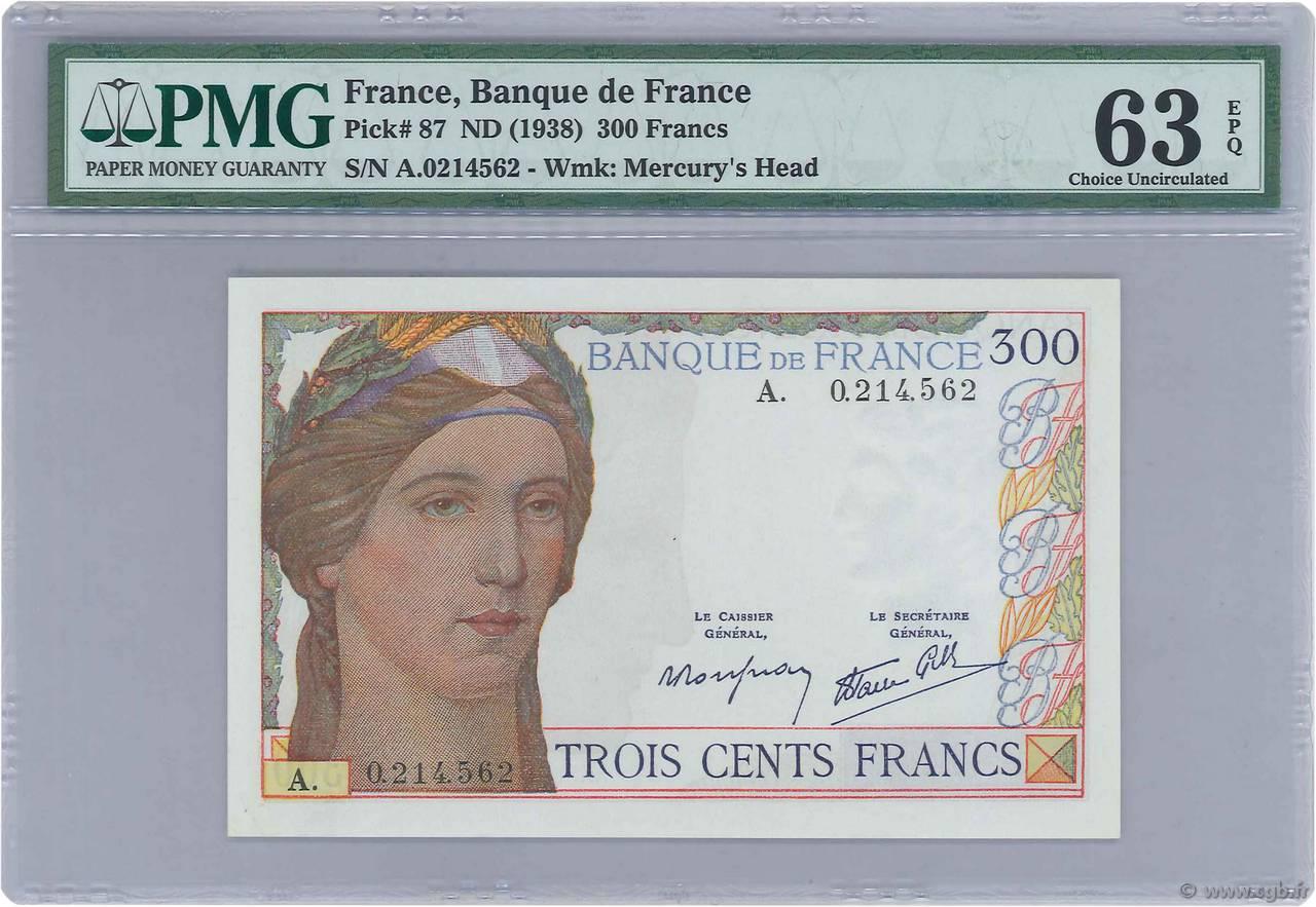 billet de 300 francs 1938