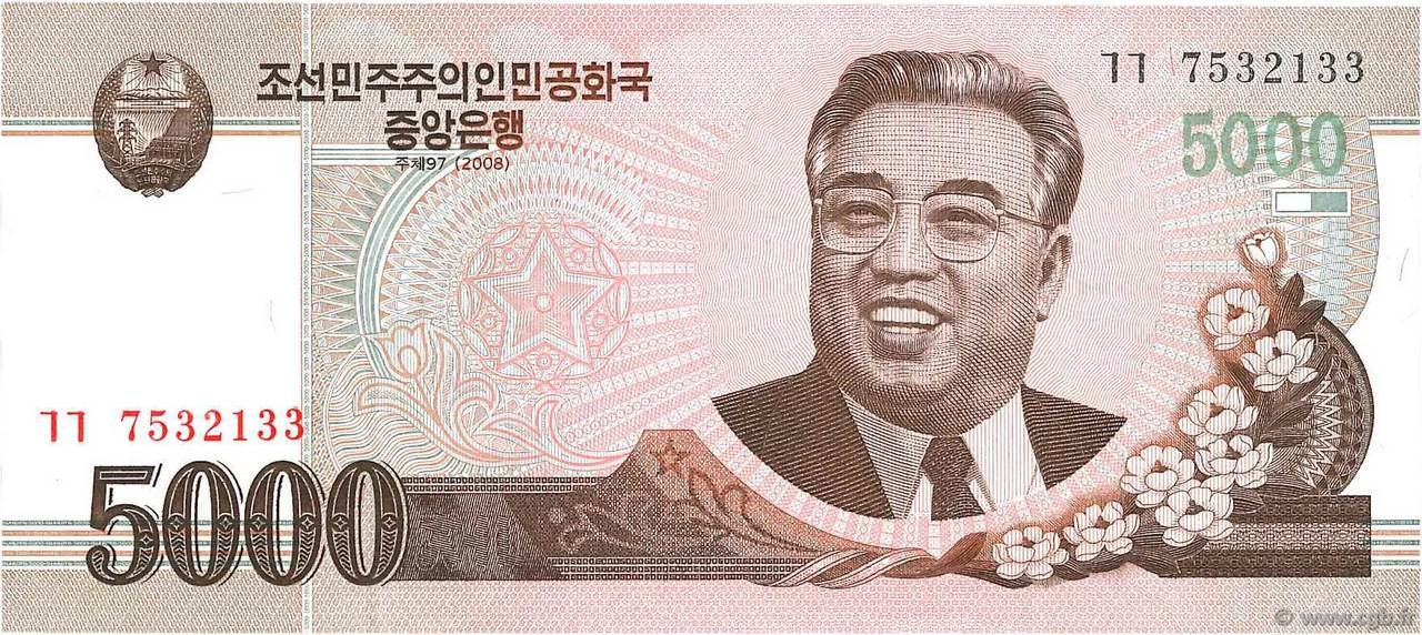 billet de banque coree du nord