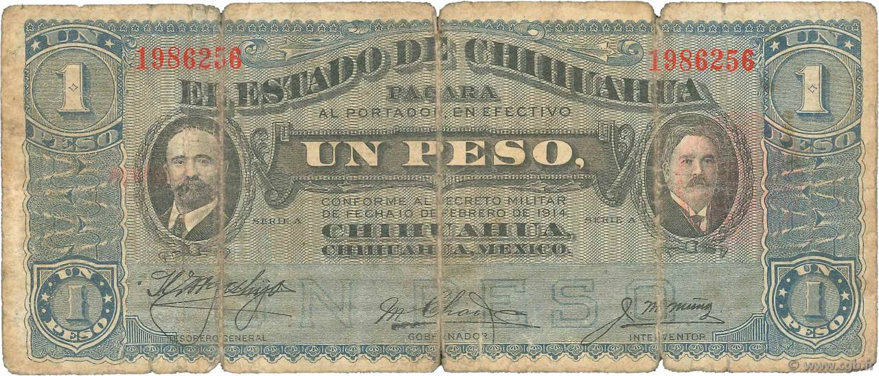 1 Peso MEXIQUE  1914 PS.0529f B