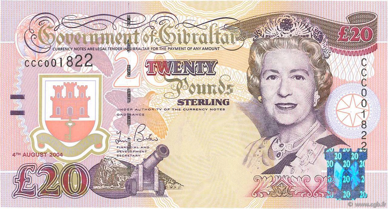 20 Pounds Sterling GIBRALTAR  2004 P.31a NEUF